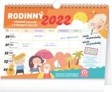 Týdenní rodinný plánovací kalendář s háčkem 2022, 30 × 21 cm