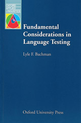 Oxford Applied Linguistics Fundamental Considerations in Language Testing