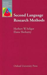 Oxford Applied Linguistics Second Language Research Methods