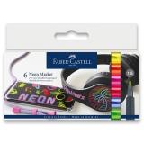 Popisovače neonové souprava 6 barev